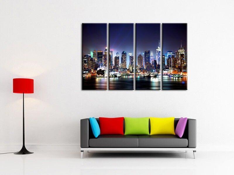 Tableau decoration design tableau moderne west coast pour for Decoration murale new york pas cher