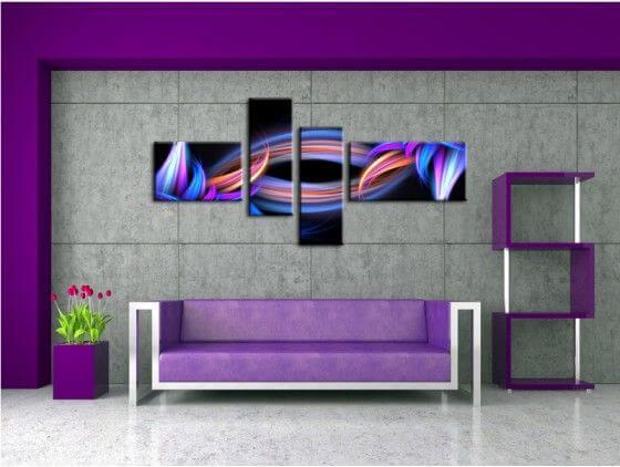 Tableau abstrait design multi couleur