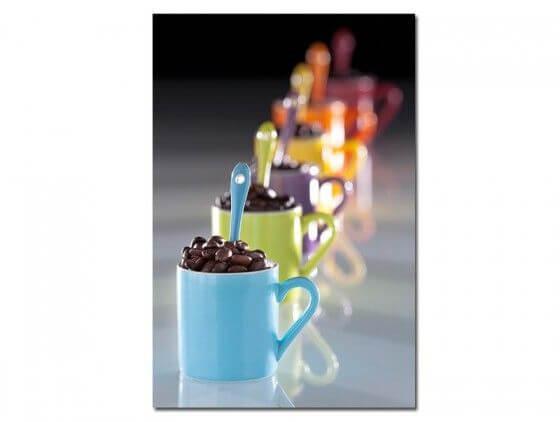 Tableau cadre décoration murale tasses à café