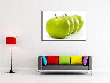 Tableau cadre déco cuisine pommes vertes