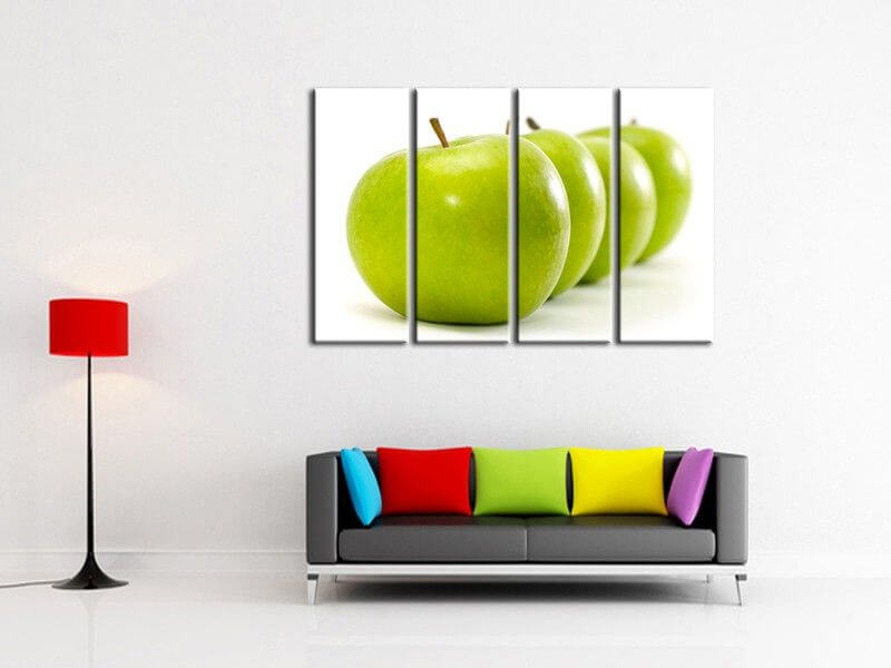 tableau d coration cuisine pomme verte vente de tableaux. Black Bedroom Furniture Sets. Home Design Ideas