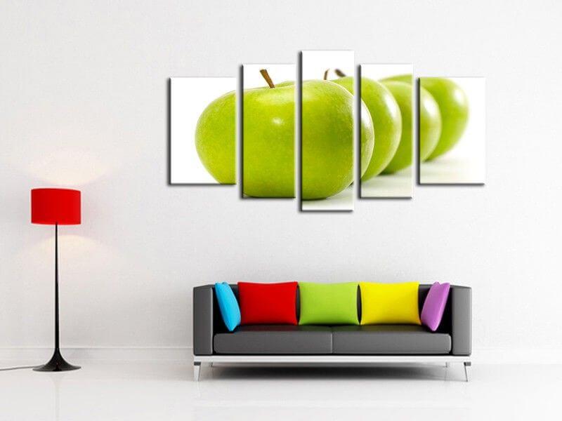 Tableau d coration cuisine pomme verte vente de tableaux for Deco cuisine cadre