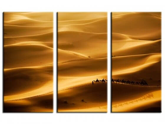 Tableau déco paysages le desert des nomades