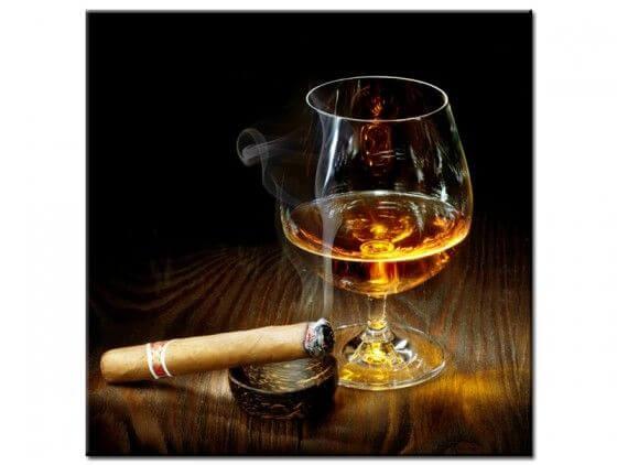 Tableau moderne déco cigare et armagnac