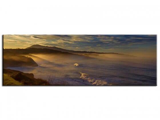 Tableau paysage lumière sur la corniche du pays basque