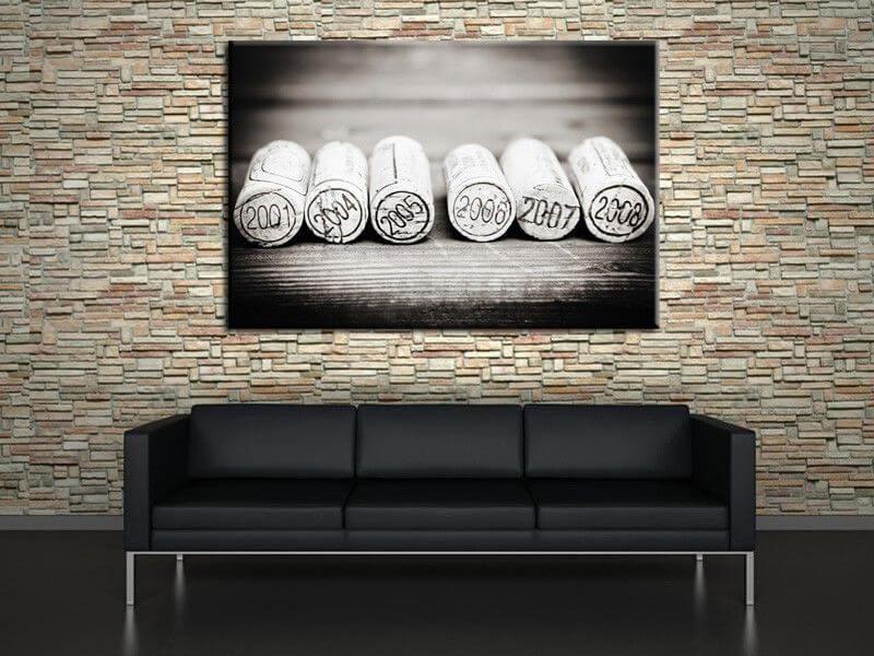 tableau contemporain bouchons en li ge d co murale design. Black Bedroom Furniture Sets. Home Design Ideas