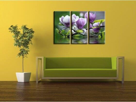 tableau fleurs de magnolia pas cher tableaux d coratifs. Black Bedroom Furniture Sets. Home Design Ideas