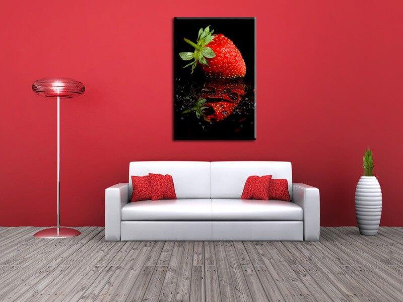 Tableau cuisine reflet de la fraise boutique tableaux for Tableau theme cuisine