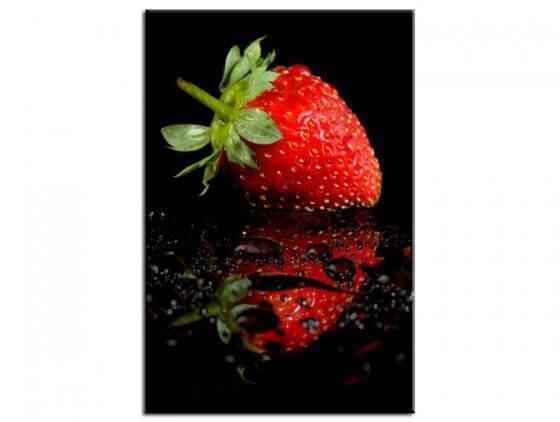 Tableau design le reflet de la fraise