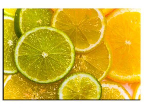 Tableau cuisine tranches de citron