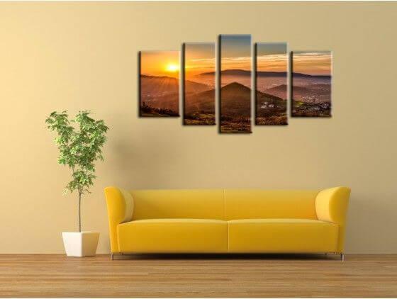 Tableau photo coucher de soleil sur le Pays Basque