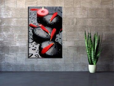 Tableau deco design En rouge