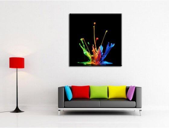 Tableau design peinture Splash