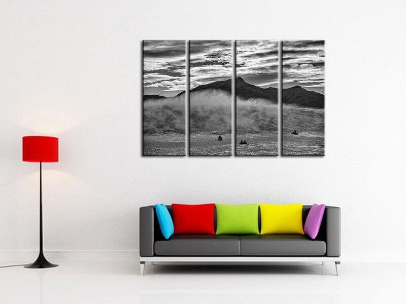 tableau deco belharra salerno tableau photo surf vague pas cher. Black Bedroom Furniture Sets. Home Design Ideas