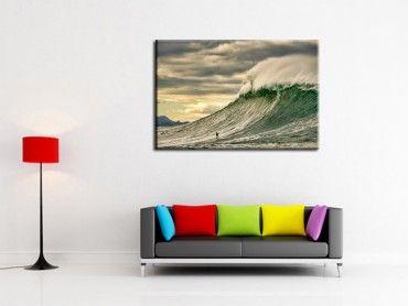 Tableau photo surf Belharra vague puissante