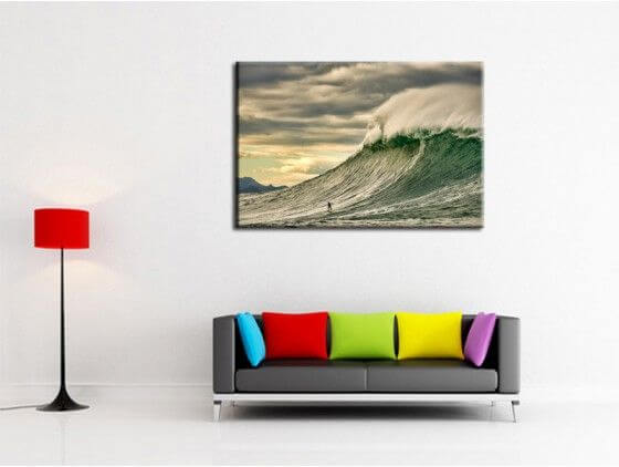 Tableau photo surf Belharra vague puissante