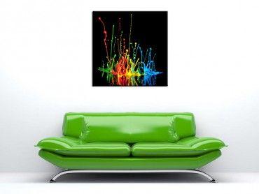 Tableau décoration murale explosion de couleurs