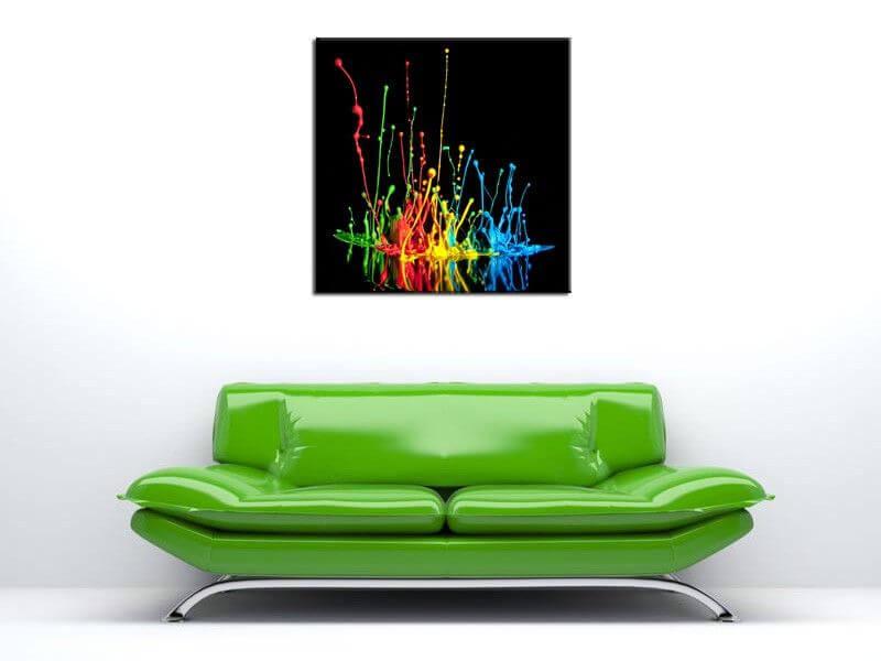 Tableau d coration murale explosion de couleurs pas ch re hexoa - Tableau de decoration murale ...