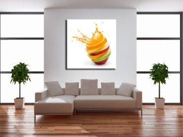Tableau déco cuisine explosion de fruits