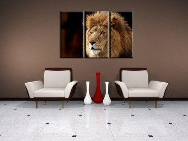 Tableau photo lion
