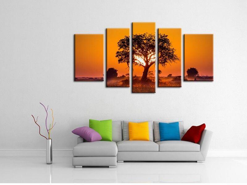 tableau d co savane d coration murale petit prix. Black Bedroom Furniture Sets. Home Design Ideas
