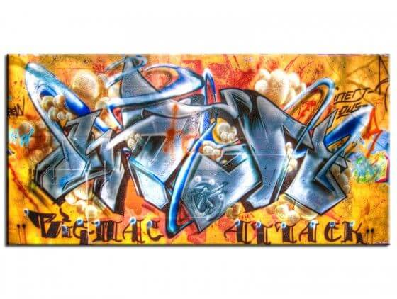 Tableau déco street art Tag gat