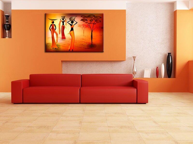 Tableau afrique pas cher vente de tableaux deco salon - Peinture de salon moderne ...