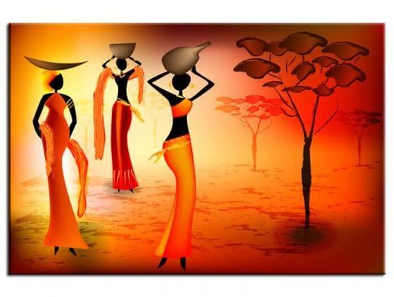 Tableau peinture déco soirée africaine