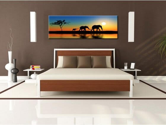 tableau peinture afrique d co murale salon pas cher. Black Bedroom Furniture Sets. Home Design Ideas