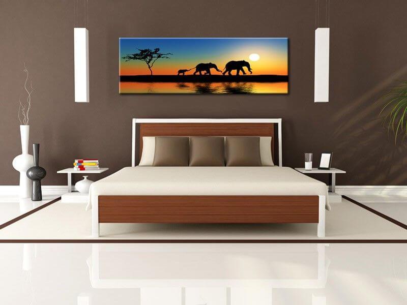 Tableau peinture afrique d co murale salon pas cher for Peinture murale design salon