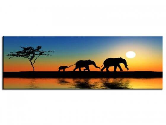 Tableau peinture déco murale afrique éléphants