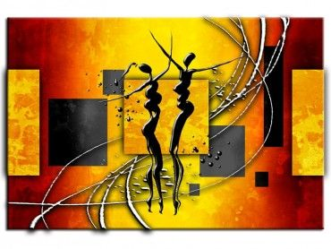 Tableau peinture contemporaine danse africaine