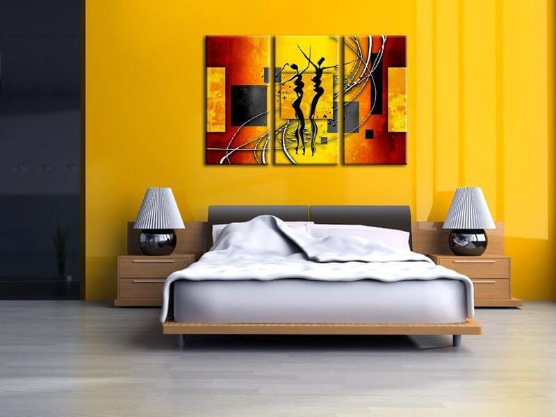 Tableau africain pas cher d coration murale contemporaine - Peinture murale contemporaine ...