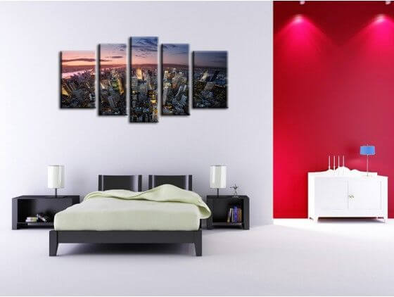 tableau new york pas cher d co urbaine toile plexi et alu. Black Bedroom Furniture Sets. Home Design Ideas