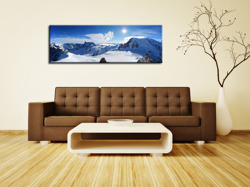 Tableau d co montagne hexoa for Decoration murale montagne