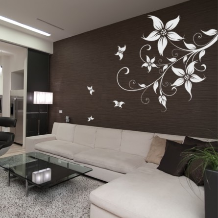 Les tendances de la deco murale hexoa for Dessin mur salon