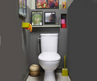 Id es d co tableau pour des toilettes originales le for Peinture toilettes idee