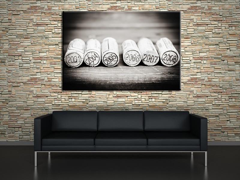 tableau contemporain bouchons en li ge hexoa. Black Bedroom Furniture Sets. Home Design Ideas