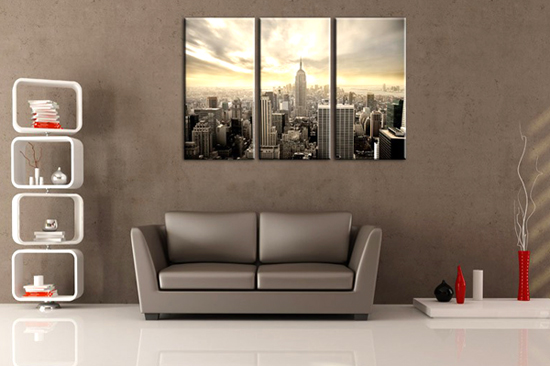 id e deco urbaine tableau new york. Black Bedroom Furniture Sets. Home Design Ideas