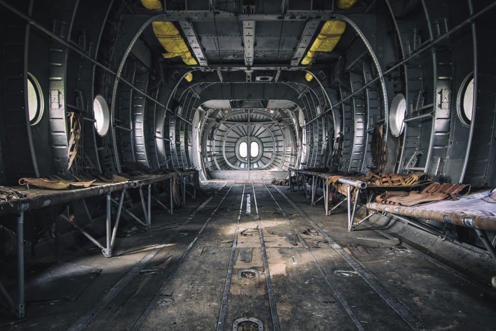 papier peint trompe lil intrieur dun avion